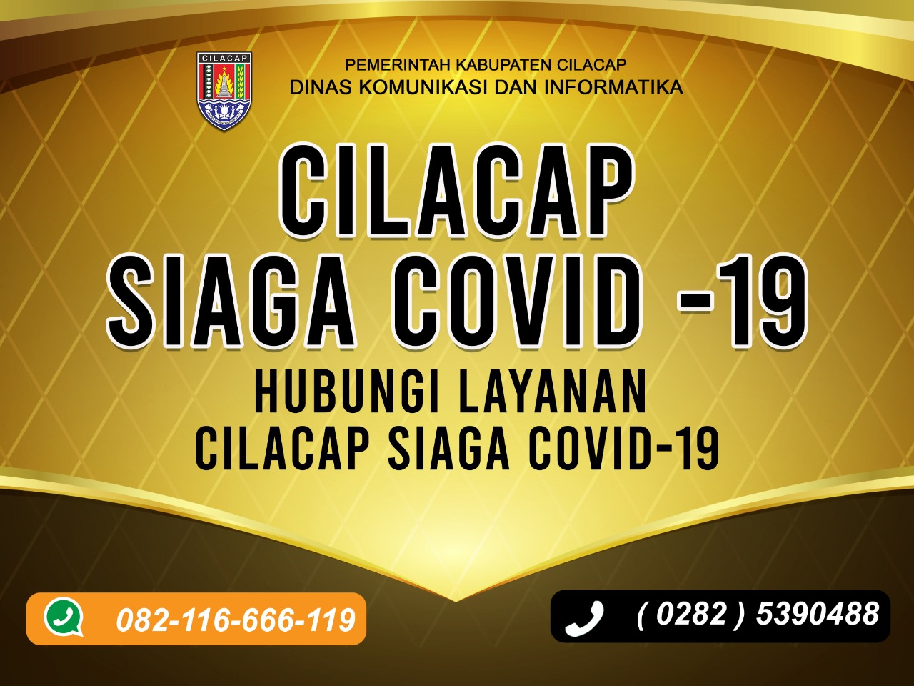 DISKOMINFO CILACAP SIAGA COVID-19